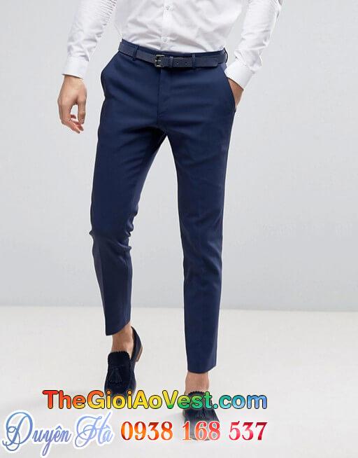 áo vest da xanh dương 3