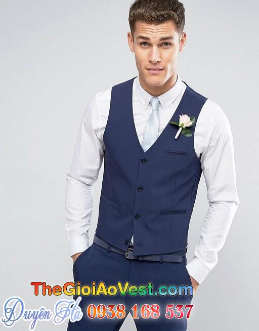áo vest da xanh dương 4