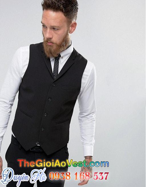 Áo vest đen ôm người Super Skinny 3